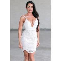 White Lace Bodycon Dress