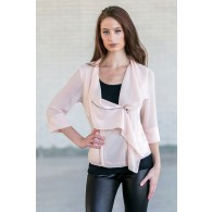 Pale peach jacket, Cute Chiffon summer jacket