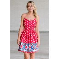 Santa Fe Stroll Printed Dress