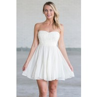 Ivory and Gold Rehearsal Dinner Party Dress