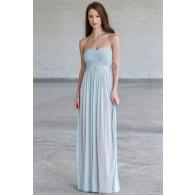 Gorgeous Pale Blue Maxi Formal Prom Dress