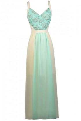 Sky Blue and Cream Maxi Dress, Blue and Ivory Maxi Dress, Cute Formal Dress, Summer Maxi Dress, Colorblock Maxi Dress, Pale Blue Maxi Dress