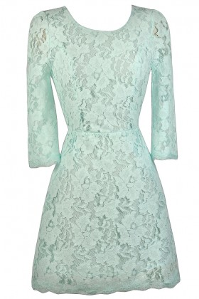 Mint Lace Dress, Cute Mint Dress, Mint Lace Sheath Dress, Mint Lace Party Dress, Open Back Lace Dress
