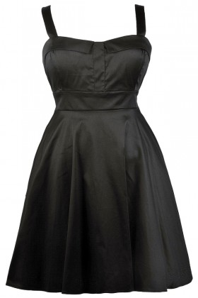 Black Plus Size Dress, Cute Plus Size Dress, Plus Size Party Dress, Plus Size A-Line Dress
