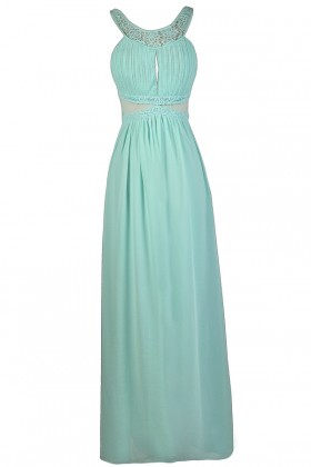 Mint Maxi Dress, Cute Mint Dress, Mint Bridesmaid Dress, Mint Formal Dress