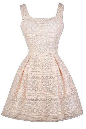 Ivory Lace A-Line Party Dress
