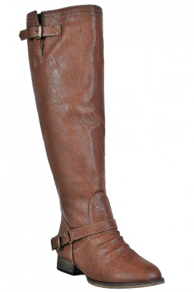 Cognac Riding Boots, Cute Fall Boots, Red Zipper Boots, Tan Boots