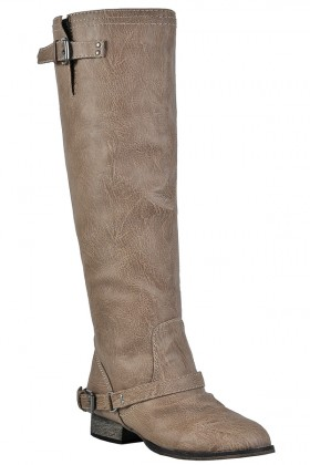 Beige Riding Boots, Cute Fall Boots, Red Zipper Boots