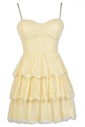 Cream Tiered Lace Top, Cute Cream Top, Cream Bustier Lace Top