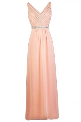 Cute Pink Maxi Bridesmaid Dress, Pink Lily Boutique Dress, Pink Maxi Prom Dress