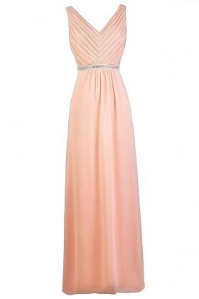 Cute Pink Maxi Bridesmaid Dress, Pink Lily Boutique Dress, Pink Maxi Prom Dress