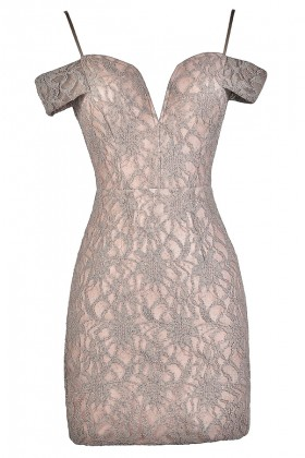 Lace Party Dress, Lace Cocktail Dress, Pink and Mauve Lace Dress