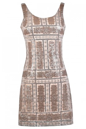 Pink Sequin Party Dress, Cute Cocktail Dress, Great Gatsby Roaring 20s Dress