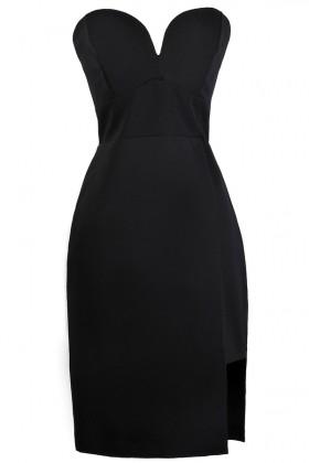 Black Strapless Dress, Cute Black Dress, Black Cocktail Dress, Online Boutique Dress