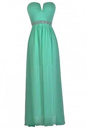 Jade Green Beaded Maxi Dress Online, Jade Green Maxi Bridesmaid Dress