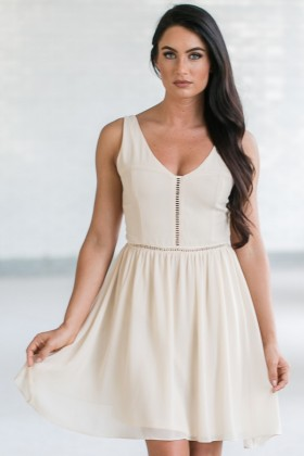 Soft and Sweet Chiffon Dress in Cream