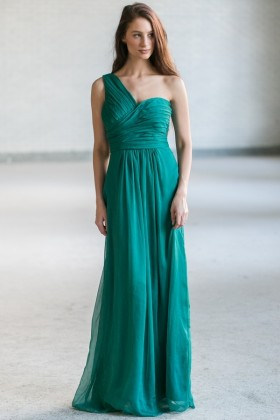 Green Maxi Bridesmaid Dress