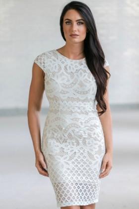 Mint Lace Capsleeve Pencil Dress, Cute Mint Lace Cocktail Dress, Online Boutique Dress