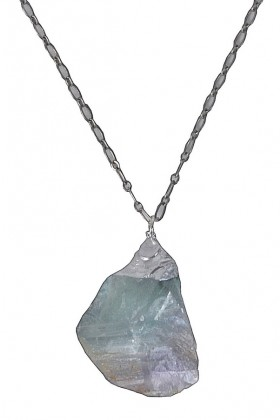 Cute Silver Pendant, Silver Crystal Necklace, Cute Jewelry