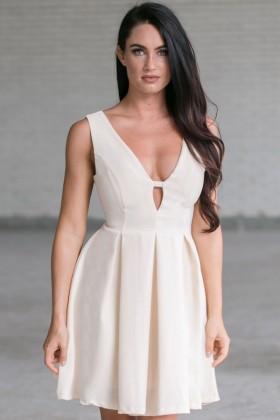 Ashton A-Line Dress in Ivory