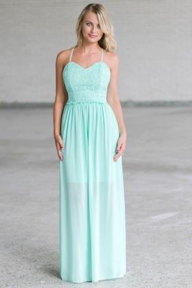 Mint Lace Maxi Dress, Cute Juniors Online Boutique Dress, Summer Dress