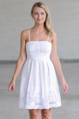 21155cca121 Guardian Angel Embroidered White Sundress