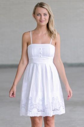 Short White Sundresses