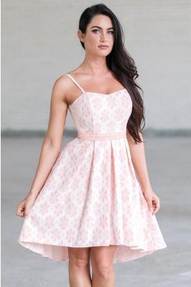 Pink High Low Dress, Cute Summer Dress Online