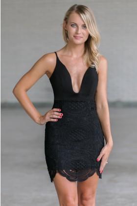 Black Lace Cocktail Dress, Little Black Dress