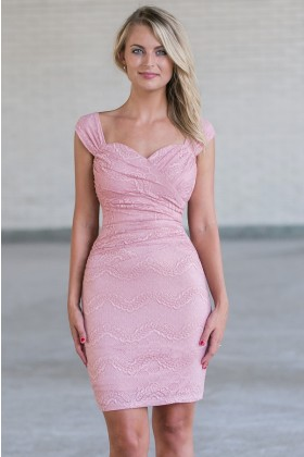 Pink lace sheath dress, Cute pink juniors bodycon dress