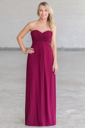 Plum Purple Maxi Bridesmaid Dress