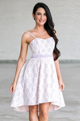 Flower Power High Low Dress in Lavender