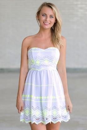 Lemon Lime Twist Embroidered Sundress