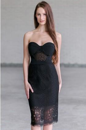 c697b43a8b20 Circle of Life Bustier Midi Dress in Black