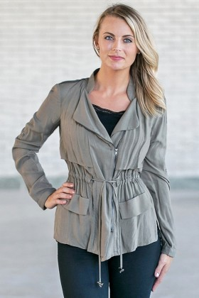 Olive Green Jacket, Cute Fall Jacket