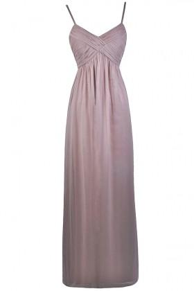 Mink Light Purple Maxi Bridesmaid Dress
