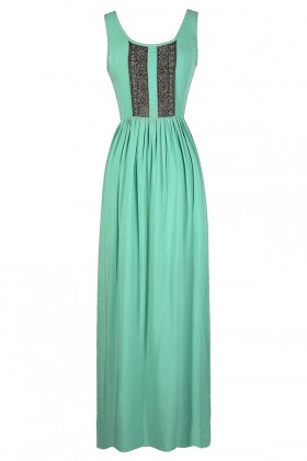 Aqua Maxi Dress, Green Maxi Dress, Mint Maxi Dress, Lace Maxi Dress, Crochet Lace Maxi Dress, Cute Maxi Dress