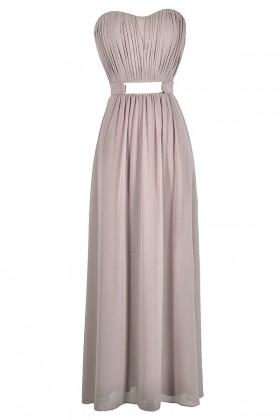 Light Purple Mink Bridesmaid Maxi Dress