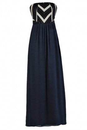 Cute Maxi Dress, Navy Maxi Dress, Cute Summer Dress, Summer Maxi Dress, Navy Summer Dress, Strapless Maxi Dress