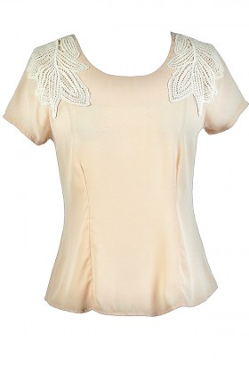 Cute Beige Top, Cute Cream Top, Cute Summer Top, Beige Crochet Top, Cream Crochet Top
