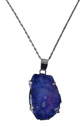 Silver and Amethyst Crystal Pendant