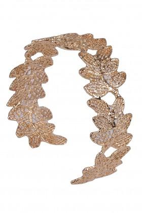 Cute Gold Leaf Cuff Bracelet, Gold Jewelry, Boho Jewelry