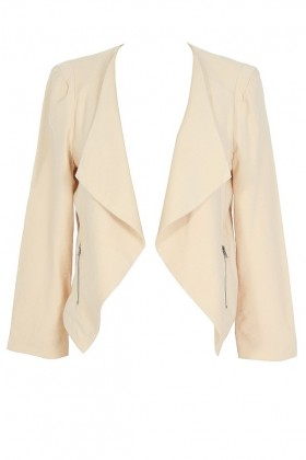 Class Act Open Jacket in Beige