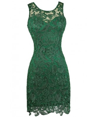 Green Lace Pencil Dress, Hunter Green Lace Dress, Dark Green Lace Dress, Green Lace Party Dress, Green Lace Cocktail Dress, Green Lace Bridesmaid Dress, Hunter Green Lace Bridesmaid Dress