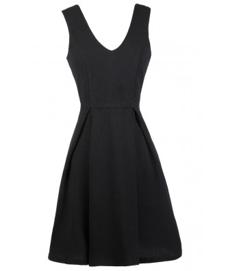 Black A-Line Dress, Little Black Dress, Black Sundress, Black Party Dress, Black Cocktail Dress