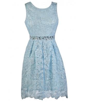 Sky Blue Lace Dress, Pale Blue Lace Party Dress, Light Blue Lace Cocktail Dress, Light Blue Bridesmaid Dress, Pale Blue Lace Bridesmaid Dress, Cute Bridesmaid Dress, Sky Blue Lace A-Line Bridesmaid Dress