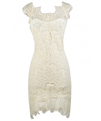 Cream Lace Dress, Beige Lace Dress, Cream Lace Cocktail Dress, Beige Lace Party Dress, Cream Lace Rehearsal Dinner Dress, Beige Lace Bridal Shower Dress, Cream Lace High Low Dress, Beige Lace Party Dress, Cute Lace Dress