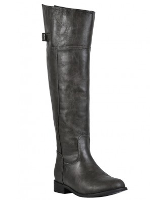 Grey Riding Boots, Cute Fall Boots, Cute Riding Boots
