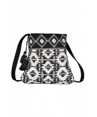 Aztec Black and White Geometric Purse, Cute Aztec Purse, Aztec Beaded Purse