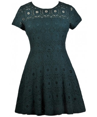 Green Lace Plus Size Dress